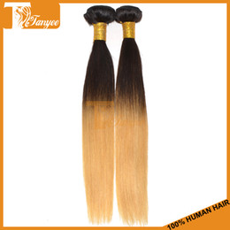 Wholesale High Grade A Ombre Human Hair Weaves Color Two Tone B Straight Virgin Hair Malaysian Raw Hair Material Double Weft g pc Fashion Hair