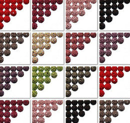 Wholesale 300pcs mm can choose color mix Micro Pave CZ Disco Crystal Shamballa Bead Bracelet Necklace Beads good Rhinestone DIY loose spacer
