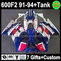 7gifts For HONDA CBR600F2 91- 94 NEW Blue white CBR600FS 91 9...