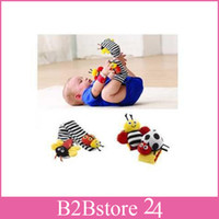 Wholesale Lamaze Foot Finder Baby Toy Foot Sock Infant Plush Toys Dropship