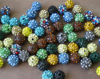 Precio de Mixed crystal beads-1000pcs / lot de 10mm puede elegir el color del grano mezclado disco de la CZ Shamballa de la pulsera del collar de Beads.good envío del precio Lowe