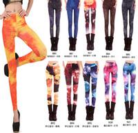 Wholesale 2014 Fanshion Sexy women leopard print leggings underwear Punk Patterned Tights Elastic Pants Star flower bloom trousers woman