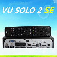 Receivers DVB-S black vu solo 2 SE Original Software twin tuner Satellite Receiver Linux 1300 MHz CPU Mini Vu solo2 SE free shipping