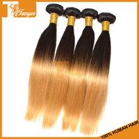 100g/pc Mongolian Hair Two Tone Color 1B/27 Mixed Order Available 6A T Color Two Tone 1B 27 Blonde Hair Weaves Hot Selling Human Hair Extension Straight Mongolian Ombre Hair Weft