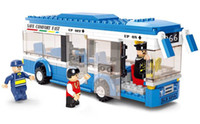 Wholesale High Quality M38 B0330 Buses Single deck Buses City Product Educational Toys Building Blocks