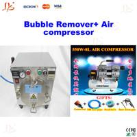220V- /50Hz vacuum laminating bubble remover + air compressor Hot combination!! Mini Autoclave Air Bubble Remover bubble removing machine+ 500W 1380 r Min Air Compressor