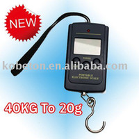 <50g Hanging Scale 40KG Wholesale-OP-Durable Pocket Scale 20g-40Kg Digital Electric Hanging Luggage Fishing Weight Scale, LCD Display, Free Shipping