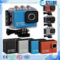 Wholesale Outdoor Waterproof Camera WIFI HD P Helmet Sport DV Action Camera DVR Camcorder Wide Angle wu