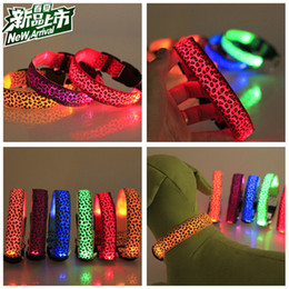 Wholesale Pet Dog LED Collar Glow Cat Collars Flashing Nylon Light Up Training Collar for dogs Colors Sizes Pet Supplies Dog Collars
