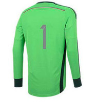 wholesale soccer jerseys - Thailand Quality Champions patch with stars World Cup Neuer Green Jerseys Goalkeeper Soccer Jersey