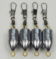 Wholesale Hot lead sinkers with swivel ring Bullet Lead g g type is complete High quality