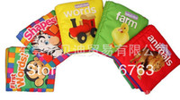 Wholesale OP educational Baby kids cloth book English Books Farm animal shape baby toys gifts