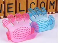 Wholesale Pet Dog Bath Glove Brushes Massage clean Brushes massage brush Best New Pet comb Dog Supplies Grooming pet products mix color