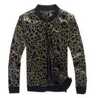 Wholesale Fashion New Man Leopard Jackets Slim European Leather Autumn Winter Men Jackets OverCoat Dust Coat High Quality Color