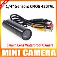 Wholesale BLACK quot sensors CMOS TVL Mini camera Bullet Outdoor Waterproof Security CCTV Camera hidden camera Video Surveillance for dvr