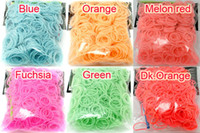 Link, Chain Other Unisex Fashion Rainbow Loom Kit DIY Bracelet (600pcs pack,12pack lot) Noctilucent Mixed Colour Rubber Loom Band with 24 S Clip&1 Hook for Bracelet