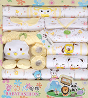 Wholesale 100 Cotton Newborn Gift Set Infant Set Baby Clothing Baby Boys Girls Suits Toddlers Clothes