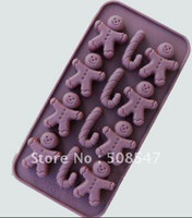 Cake Tools Zhejiang China (Mainland) Yes Silicone 12 Shapes doll BOY baby gift box Cake Mould chocolate mould cake Mold ice mould