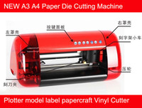 label die cutting machine - NEW A3 A4 Paper Die Cutting Machine Plotter model label papercraft Vinyl Cutter free shiping