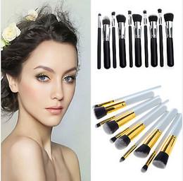 Wholesale Five Colors Professional Makeup Brushes Set Foundation Powder Eyeshadow make up brushes Set JC05008