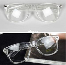 Wholesale x Jelly Plain Mirror Rivet Glasses Unisex Transparent Lens Glasses New E701