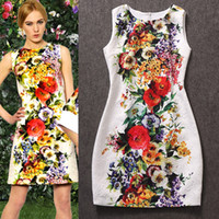 Wholesale autumn fashion trending women s luxury brand designer jacquard one piece dress runway dress tank dress vintage white