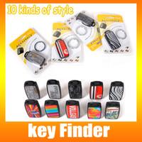 5 Pieces / Lot Key Finder Locator Найти Потерянные ключи Цепочки для ключей Свистящее управление звуком Избегайте потери ключа, включая розничную упаковку