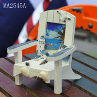Marine Arts Other sizes MA04605 Mediterranean beach chair wooden handicrafts frame frame ornaments desktop business card holder cell phone holder