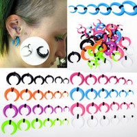 Wholesale OP Details about Gauge Acrylic Taper Horn Ear expander Stretcher Tunnel Plugs