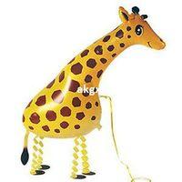 animal safari balloons - inch Huge Walking Pet Giraffe Mylar Balloon Zoo Jungle Safari Party Supplies E701