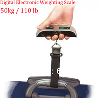 <50g Yes 110 lb / 50 kg Wholesale-OP-free ship 1pc 50kg 110lb Pocket Portable Hanging LCD Digital Electronic Luggage Fishing Balance Weighting Scale Fish Hook Waage