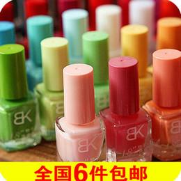 Wholesale bk counter BK nail polish color color incense seconds drying solid super multi ribbon scented green nail polish