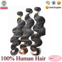 Indian Hair Body Wave natural color shengye wholesale price 7a Grade can be dyed can be bleach remy human hair weft mix lenght 12-30inch by dhl free shipping