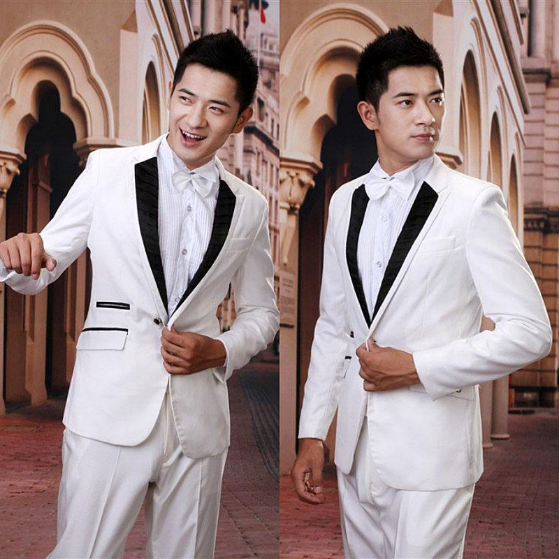 White Jacket Tuxedo Wedding Suits White Tuxedo Jacket