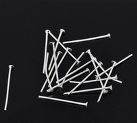 Wholesale 700PCs Silver Plated Head Pins x20mm