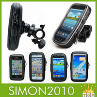 Wholesale 360 degree rotatable bicycle phone holder waterproof phone protective case bike stand holder for Samsung S5 S4 S3 note2 iphone