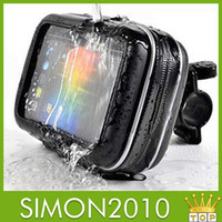 Wholesale 2 in Waterproof Bag Case Plastic leather material cellphone protective cover motor car racing bike phone holder for samsung iphone