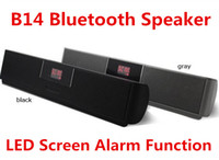 Wholesale B14 Mini Portable Bluetooth Wireless Stereo Speaker With LED Screen Alarm Function Sardin FM Radio MP3 USB Sound Box Player Speakers