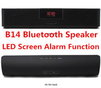 Wholesale B14 Mini Portable Bluetooth Wireless Stereo Speaker With LED Screen Alarm Function Sardin FM Radio MP3 USB Sound Box Player Speakers DHL