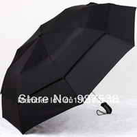 Wholesale OP High quality fashion double cloth polyester men automatic sunny rainy folding umbrella