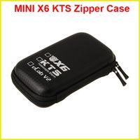 Leather   MINI X6 KTS Zipper Case E Cigarette leather case bag for X6 kts ecab v2 electronic cigarette starter kit cheap