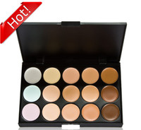 camouflage wholesale - The new Colors Makeup Eyeshadow Camouflage differentiated bi facial Concealer Neutral Palette boxes of Cream