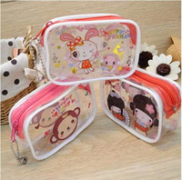 Wholesale Cosmetic Bags New Luggages The new transparent makeup bag Zero purse small objects receive package