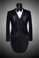 Cheap Male Custom Groom Prom Suit 2014 Mens Tuxedo Black And White Wedding Suits For Men Suits Slim Fit Suit Coat Man Plus Size Blazer