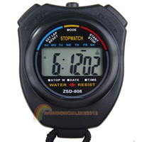 Wholesale OP R1B1 New Digital Running Timer Chronograph Sports Stopwatch Counter with Strap