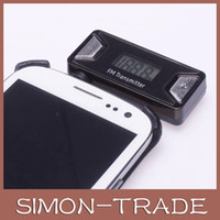 Wholesale Portable mm Wireless FM Transmitter Car Radio Music Kit with background LED light For iPhone S G GS iPad