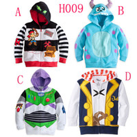 Wholesale 2015 Jake and the Neverland Pirates Monster University TOY3 boy boys Fleece Hooded cardigan coat top outwear track suits