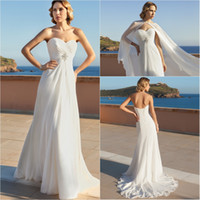 A-Line Reference Images Sweetheart 2014 Custom Made Sweetheart Neckline Long Formal Wedding Dress Pleated Chiffon Beaded A-line Sweep Train Lace up Beach Bridal Dresses Gowns