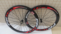 Wholesale Powerway R36 hubs red FFWD fast forward F5T carbon bicycle wheels basalt brake surface white red mm clincher tubular road bike wheelset