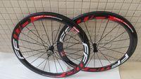 Wholesale Powerway R36 hubs red FFWD fast forward F5T carbon bicycle wheels basalt brake surface white red mm clincher tubular road bike wheelset